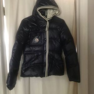 Moncler hooded down puffy coat